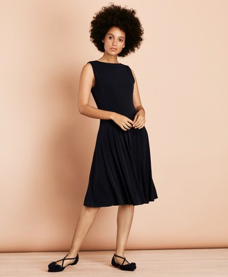 Brooks Brothers Pleated Jersey Dress