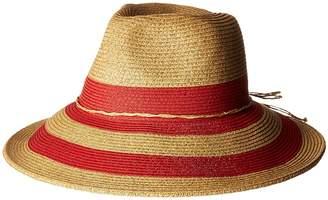 Scala Stripe Braid Safari Caps