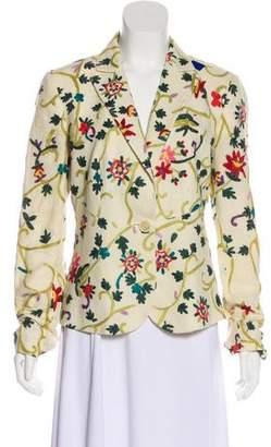 Etro Linen Embroidered Blazer