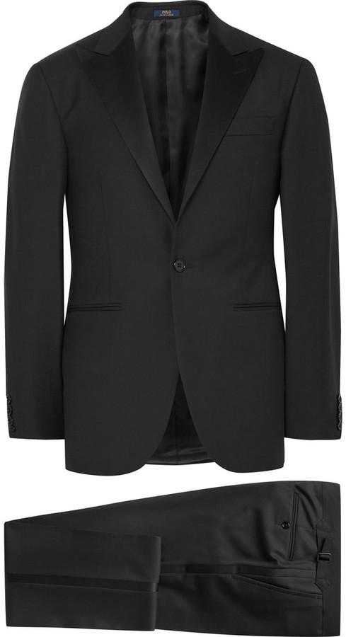 Polo Ralph LaurenPolo Ralph Lauren Black Fairbanks Slim-Fit Wool Tuxedo