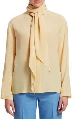 The Row Katina Tie Neck Blouse