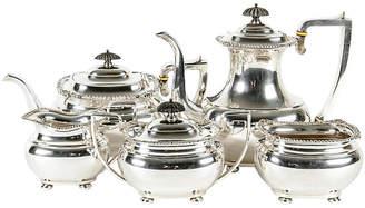 One Kings Lane Vintage Sterling Silver Coffee Set - 5 Pcs - La Maison Supreme