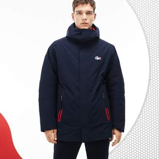 Lacoste Men's French Sporting Spirit Edition Reversible Quilted Parka
