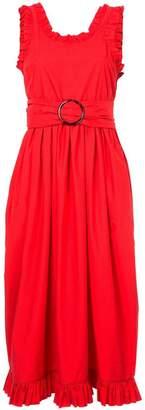 Isa Arfen frill trim belted waist dress