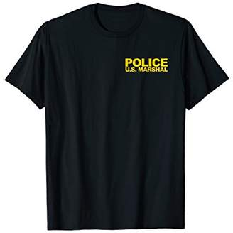 U.S. Marshal Shirt Front Back Print Police Law Cosplay