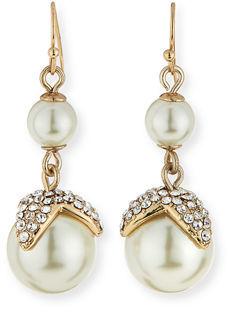 Lulu Frost Petal Cap Simulated Pearl Drop Earrings $215 thestylecure.com