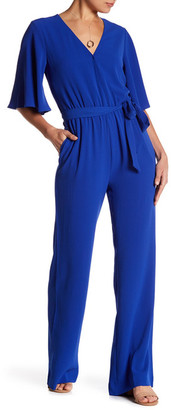 Charles Henry Surplice Bell Sleeve Jumpsuit $98 thestylecure.com