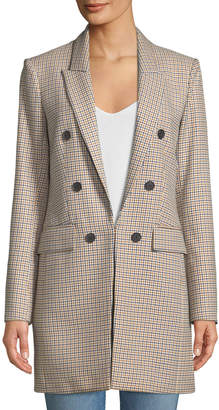 Veronica Beard Liss Hook-Front Double-Breasted Jacket