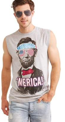 Americana Big Men's Patriot Abe Graphic T-shirt Combo With Sunglasses, 2XL