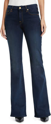 """7 For All Mankind Mid-Rise Kick-Flare Jeans - Contrast """"A"""" Pocket"""