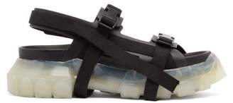 Rick Owens Tractor Leather Sandals - Mens - Black