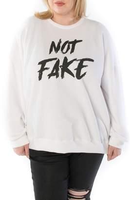 SLINK Jeans Not Fake Oversize Sweatshirt