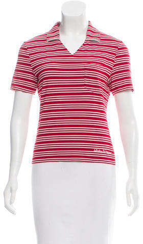 Salvatore Ferragamo Salvatore Ferragamo Striped Polo Top