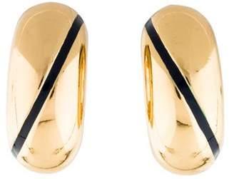 Burberry Enamel-Accented Clip-On Earrings