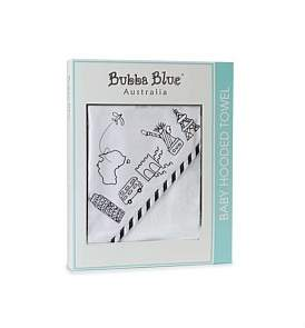 Bubba Blue Small World Velour Hooded Towel