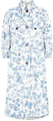 Burberry English Garden Linen Dress Coat
