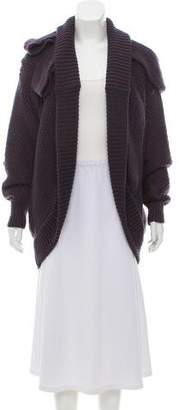 Nina Ricci Open Front Unstructured Wool Cardigan