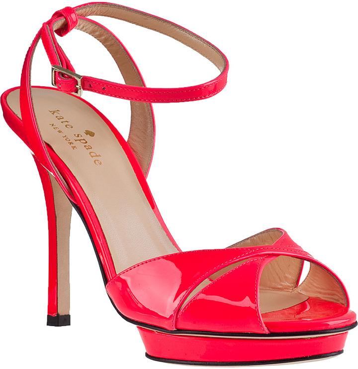 Kate Spade Verocity Platform Sandal Black Patent