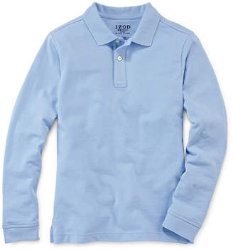 Izod EXCLUSIVE Long-Sleeve Piqu Polo - Preschool Boys 4-7