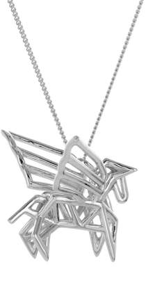 Origami Jewellery Frame Pegasus Necklace Sterling Silver