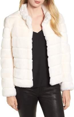Kristen Blake Faux Fur Quilted Jacket