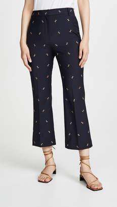 Tibi Cropped Midrise Bootcut Pants