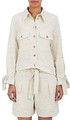 Chloé Women's Donegal-Effect Cotton-Blend Shirt