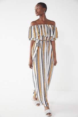Urban Outfitters Striped Off-The-Shoulder Maxi Dress