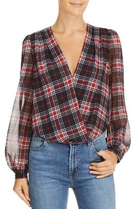Lucy Paris Plaid Blouson Bodysuit - 100% Exclusive