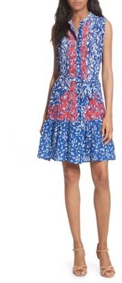 Women's Saloni Tilly Print Silk Fit & Flare Dress $425 thestylecure.com
