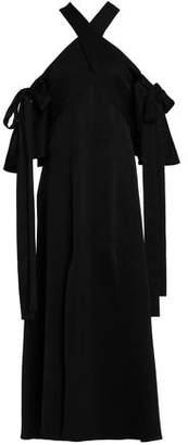 Ellery Sly Cold-Shoulder Satin-Crepe Midi Dress