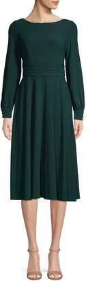 Eliza J Long-Sleeve Knee-Length Dress