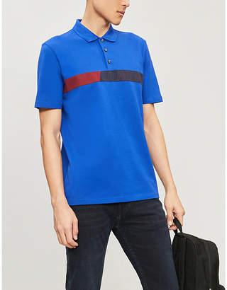5f2e7cd5d HUGO Logo-tape stretch-cotton polo shirt