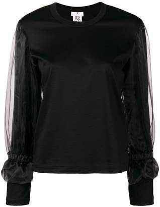 Comme des Garcons tulle insert sweater