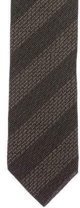 Giorgio Armani Wool-Blend Striped Tie w/ Tags