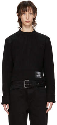 Proenza Schouler Black PSWL Patch Ribbed Sweater