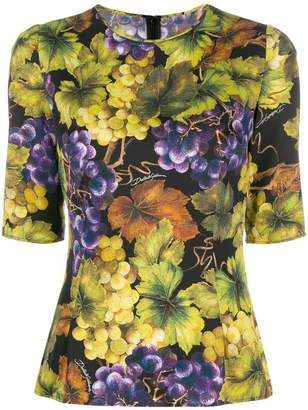 Dolce & Gabbana printed fitted top