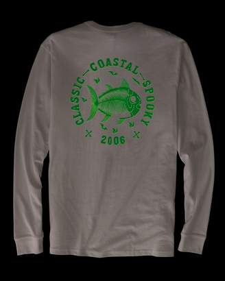 Southern Tide Classic Coastal Spooky Glow-in-the-Dark Long Sleeve T-shirt