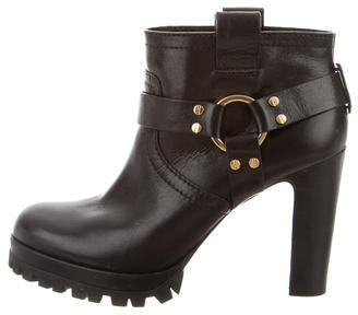 Tory Burch Tory Burch Leather Platform Booties