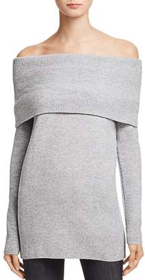 AQUA Cashmere Off-the-Shoulder Sweater - 100% Exclusive