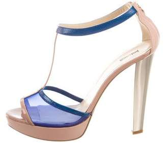 Just Cavalli Patent Leather Platform Sandals