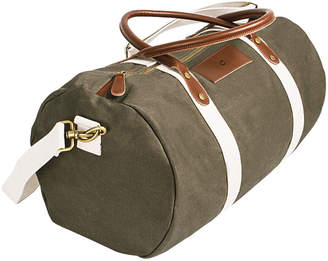 Cathy's Concepts Cathys Concepts Personalized Canvas & Leather Duffle Bag