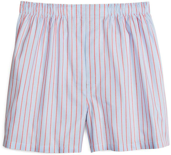 Brooks Brothers Slim Fit Blue and Coral Ground Stripe Boxers