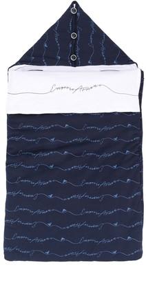 Emporio Armani Kids branded sleep bag