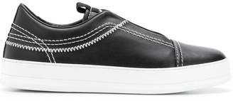 Ermenegildo Zegna embroidered sneakers