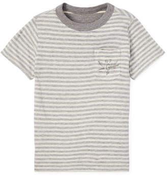Ralph Lauren Childrenswear Striped Reversible Short-Sleeve Tee, Size 5-7