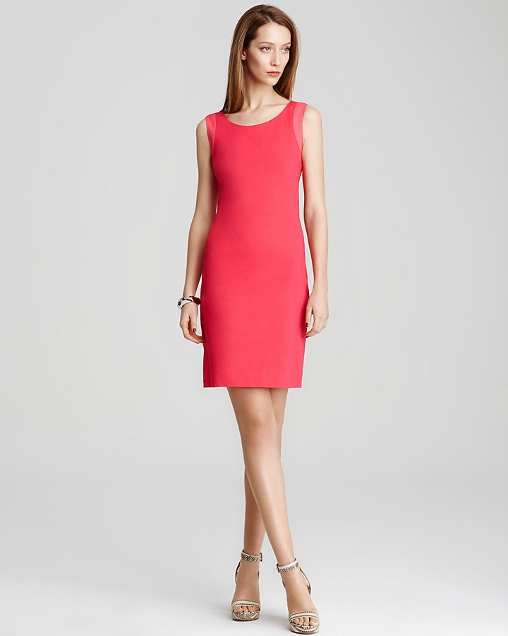 DKNY Contrast Sheath Dress