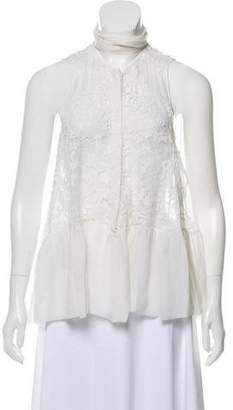 Givenchy Sleeveless Embroidered Top