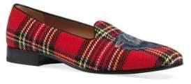 Gucci Gallipoli Red Tartan Loafers