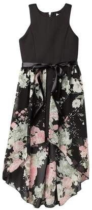 Love, Nickie Lew Hi-Lo Floral Apron Dress (Big Girls)